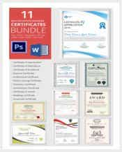 certificate template bundle min