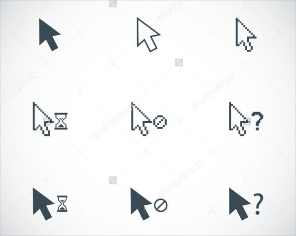 Vector Cursor Icons