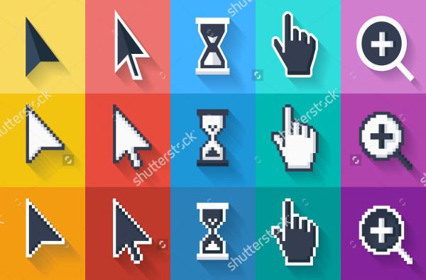 Flat Cursor Icons