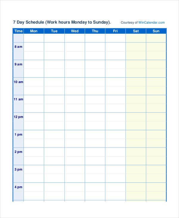 Scheduling Calendar Templates - 5+ Free PDF Documents Download ...