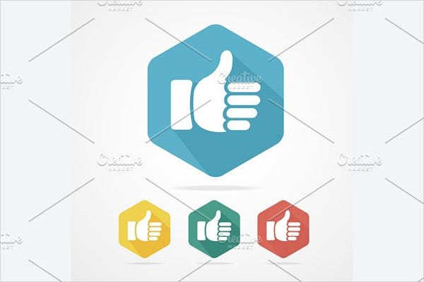 Cursor Thumb Up Icons Set