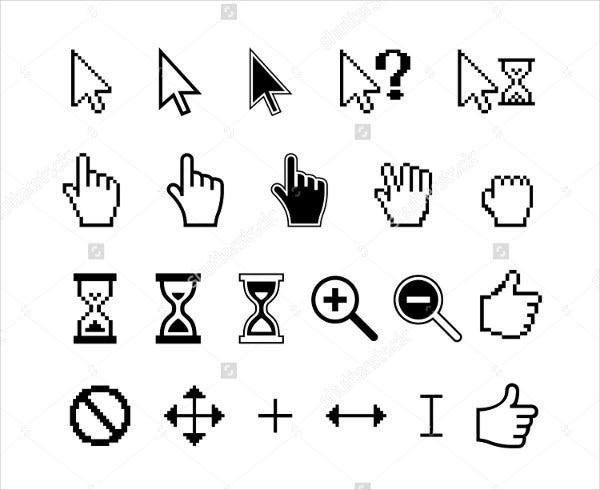 Hand Cursor and Pointer Icons