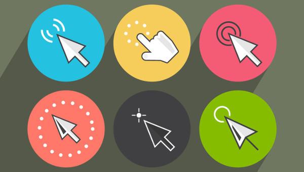 set of cursor icons