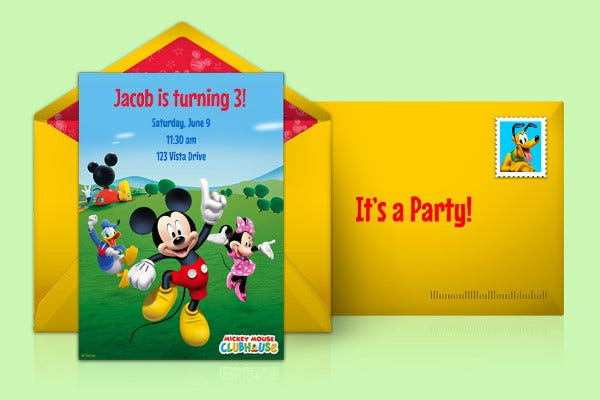 Mickey Mouse Clubhouse Online Invitation
