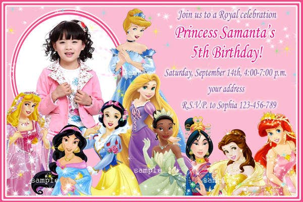 picture relating to Disney Princess Birthday Invitations Free Printable identified as 11+ Disney Invitation Plans Templates - PSD, AI No cost
