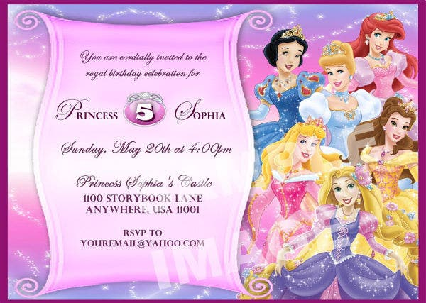 Awesome Disney Invitation Template