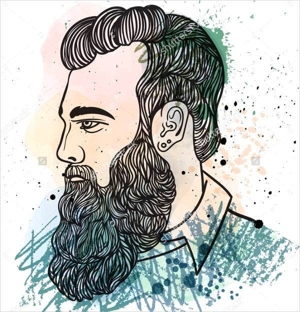 hipster-watercolor-drawing