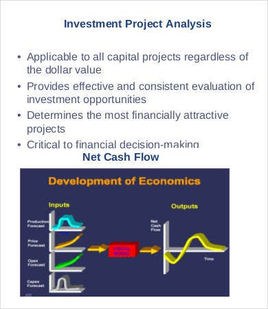 Investment Project Analysis Template