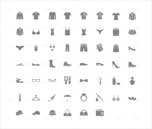 Clothing Company Icons