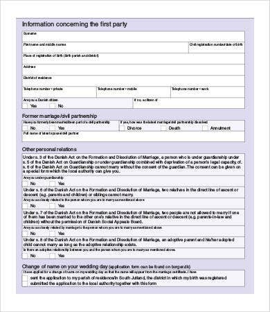 marriage separation notice template