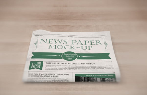 Newspaper Cover Mockup