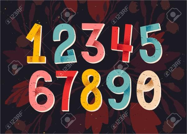 Crazy Number Font