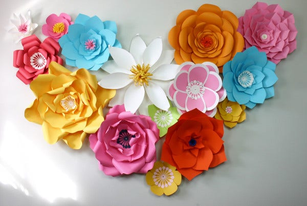 paper flower template for birthday