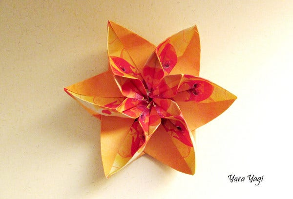 Paper Flower Template by Yara Yagi