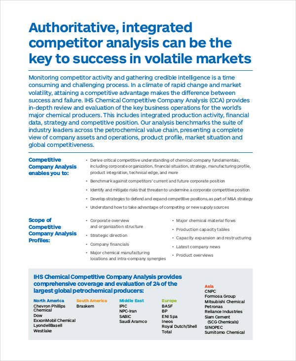 Competitive Company Analysis Template