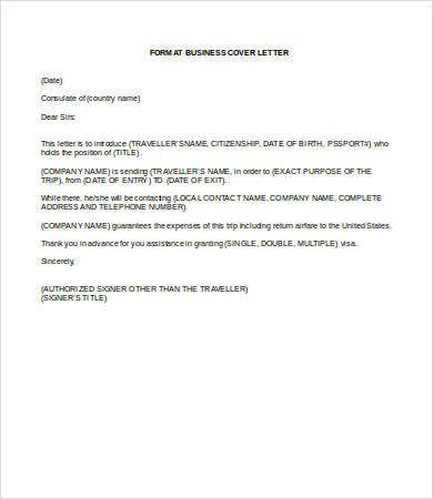 business cover letter