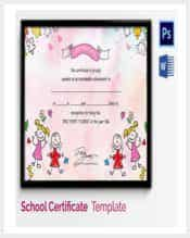 achievement award template for preschool kids min