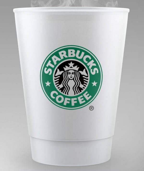 Starbucks Coffee Cup Mockup