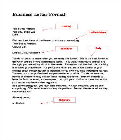Business Letters 8 Free Word Pdf Documents Download