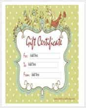 homemade gift certificate word template free download min min