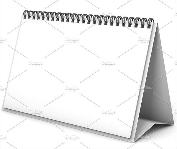 Paper Calendar Mockup