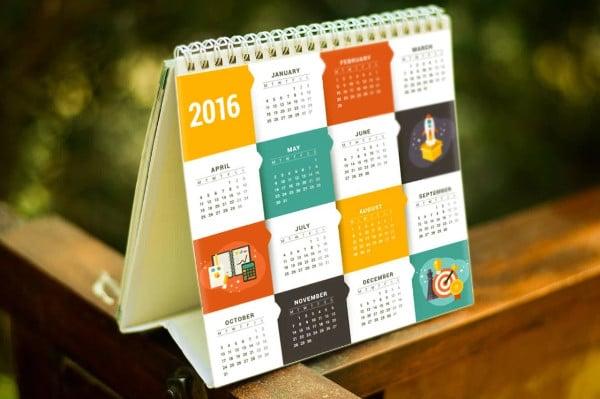 Square Calendar Mockup