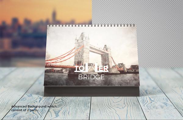 Photorealistic Calendar Mockup