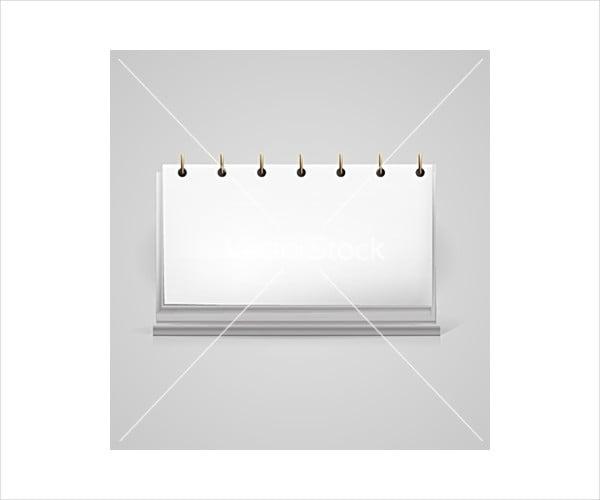 Blank Calendar Mockup