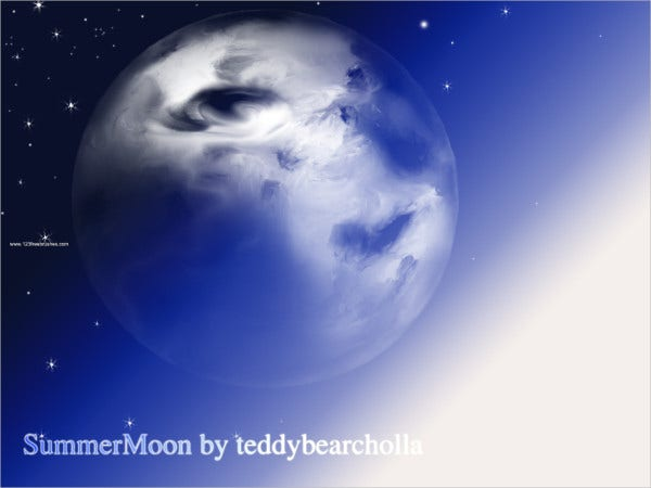 Summer Moon Brushes Free Download
