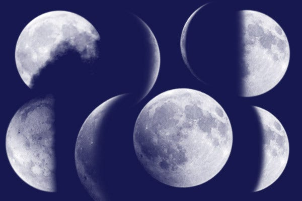 Free Moon Brushes PSD