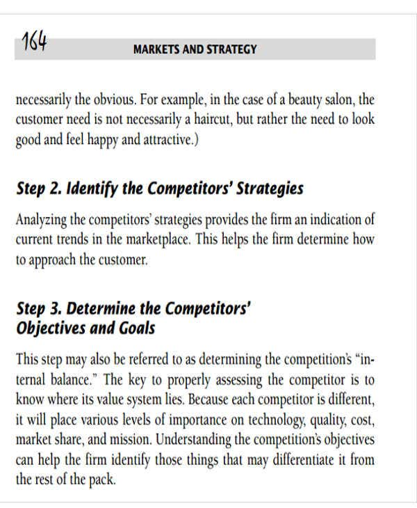 basic competitor analysis template
