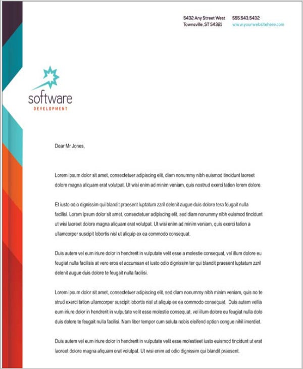 5 company letterhead templates word free premium templates software company letterhead template in word spiritdancerdesigns Image collections