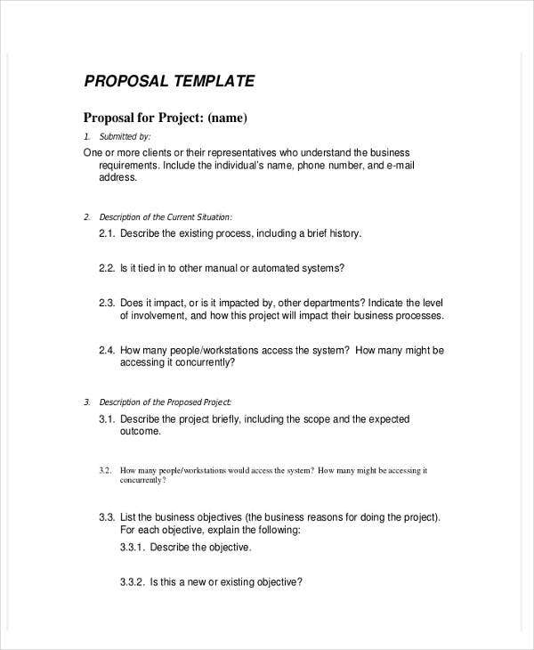7 business proposal templates in word free premium templates project business proposal template in word flashek Gallery