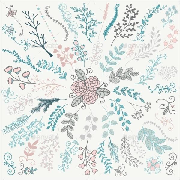 floral doodle brushes