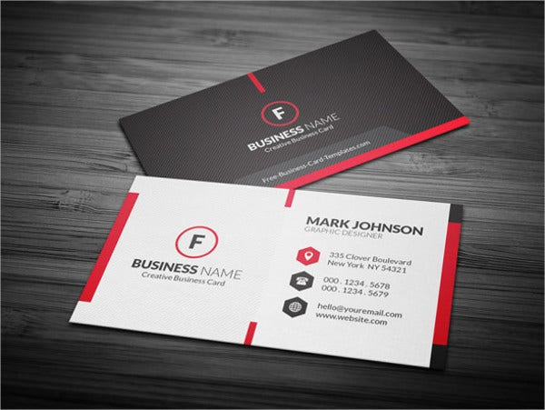 free printable business card template1