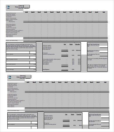small business annual budget template