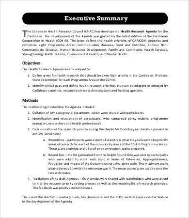 Research Agenda Templates  Free Sample Example Format  Free