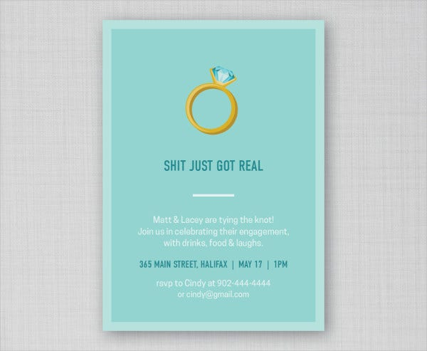 Funny Engagement Party Invitation