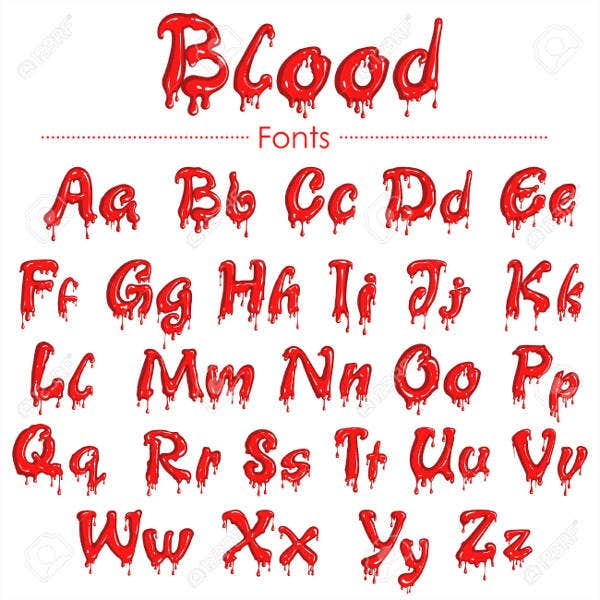 Blood Splatter Font