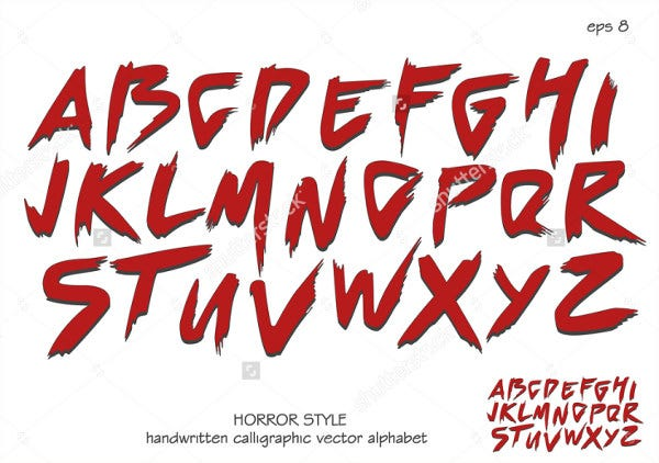 9 Blood Fonts Free Premium Templates