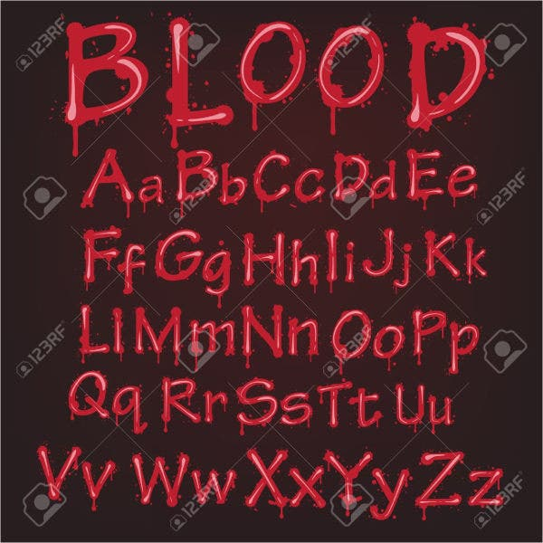 Blood Bleeding Font