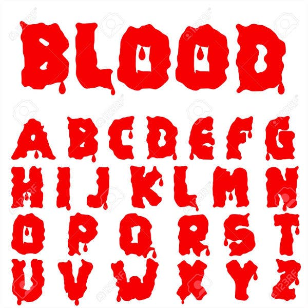 blood vampire font