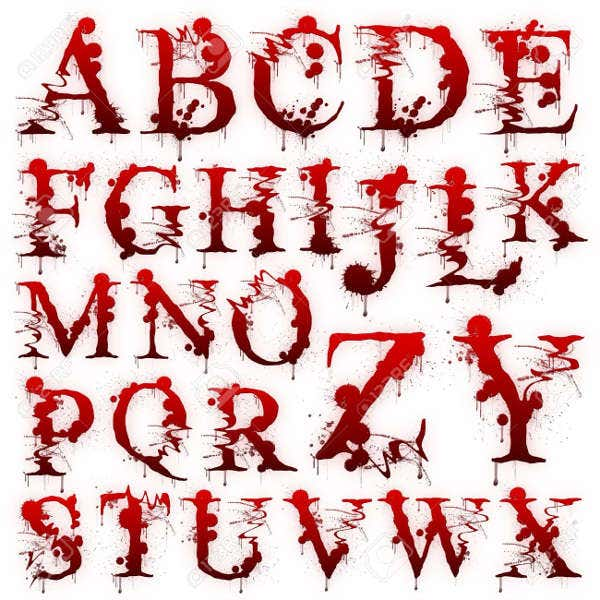 Horror Blood Font