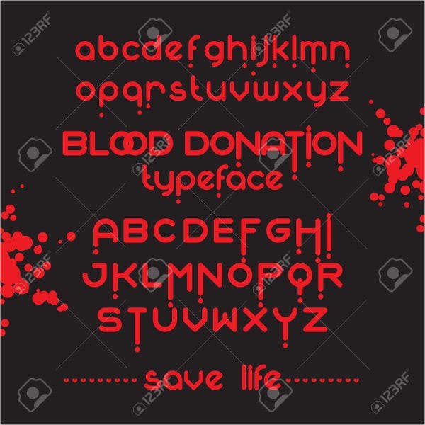 round blood font