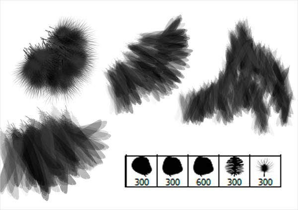 bird-feather-brushes