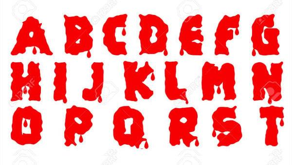 blood font1