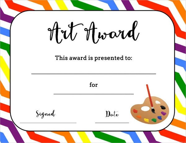 art award certificates 7 free psd pdf format download free