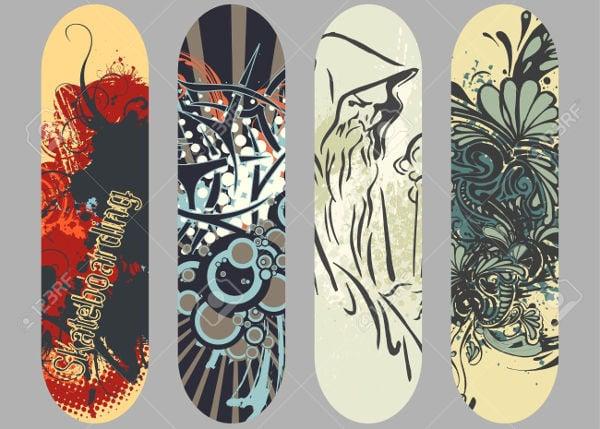 vector skateboard design