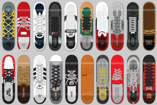 9 skateboard designs free premium templates