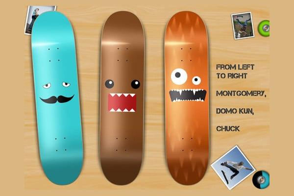 cool skateboard design